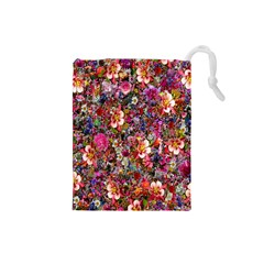 Psychedelic Flower Drawstring Pouches (small)