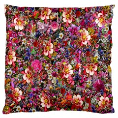 Psychedelic Flower Large Flano Cushion Case (two Sides)