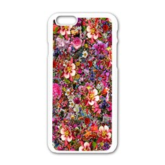 Psychedelic Flower Apple Iphone 6/6s White Enamel Case by BangZart