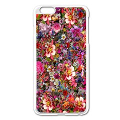 Psychedelic Flower Apple Iphone 6 Plus/6s Plus Enamel White Case by BangZart
