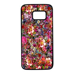 Psychedelic Flower Samsung Galaxy S7 Black Seamless Case