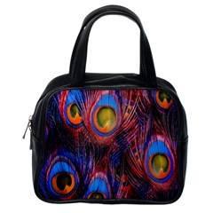 Pretty Peacock Feather Classic Handbags (one Side) by BangZart