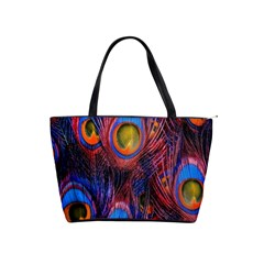 Pretty Peacock Feather Shoulder Handbags by BangZart