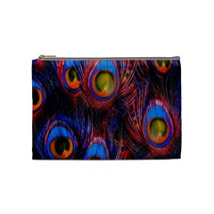 Pretty Peacock Feather Cosmetic Bag (medium)