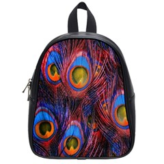 Pretty Peacock Feather School Bags (small)