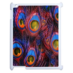 Pretty Peacock Feather Apple Ipad 2 Case (white) by BangZart