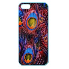 Pretty Peacock Feather Apple Seamless Iphone 5 Case (color)