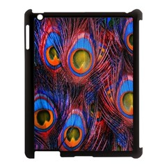 Pretty Peacock Feather Apple Ipad 3/4 Case (black) by BangZart