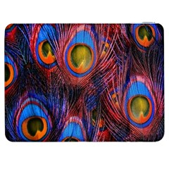 Pretty Peacock Feather Samsung Galaxy Tab 7  P1000 Flip Case by BangZart