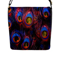 Pretty Peacock Feather Flap Messenger Bag (l)  by BangZart