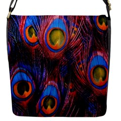 Pretty Peacock Feather Flap Messenger Bag (s)