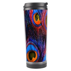 Pretty Peacock Feather Travel Tumbler by BangZart
