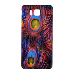 Pretty Peacock Feather Samsung Galaxy Alpha Hardshell Back Case by BangZart