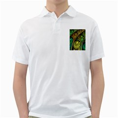 Psytrance Abstract Colored Pattern Feather Golf Shirts by BangZart