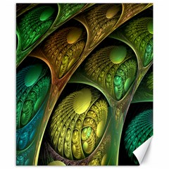 Psytrance Abstract Colored Pattern Feather Canvas 8  X 10  by BangZart