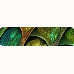 Psytrance Abstract Colored Pattern Feather Large Bar Mats by BangZart