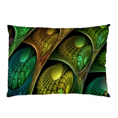 Psytrance Abstract Colored Pattern Feather Pillow Case by BangZart