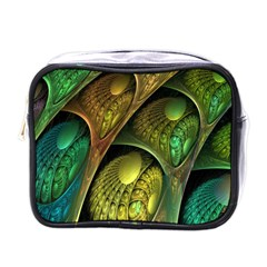 Psytrance Abstract Colored Pattern Feather Mini Toiletries Bags by BangZart