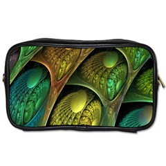 Psytrance Abstract Colored Pattern Feather Toiletries Bags 2 Side by BangZart