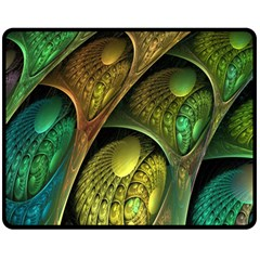 Psytrance Abstract Colored Pattern Feather Fleece Blanket (medium)  by BangZart