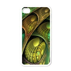 Psytrance Abstract Colored Pattern Feather Apple Iphone 4 Case (white) by BangZart