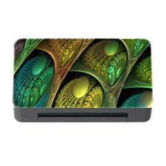 Psytrance Abstract Colored Pattern Feather Memory Card Reader With Cf
