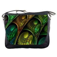 Psytrance Abstract Colored Pattern Feather Messenger Bags