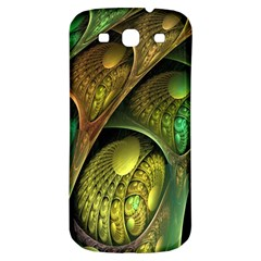 Psytrance Abstract Colored Pattern Feather Samsung Galaxy S3 S Iii Classic Hardshell Back Case by BangZart