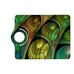 Psytrance Abstract Colored Pattern Feather Kindle Fire Hd (2013) Flip 360 Case