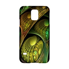 Psytrance Abstract Colored Pattern Feather Samsung Galaxy S5 Hardshell Case
