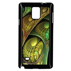 Psytrance Abstract Colored Pattern Feather Samsung Galaxy Note 4 Case (black)