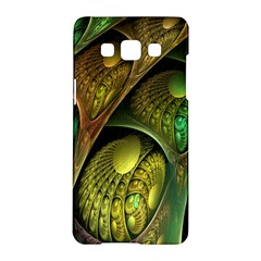 Psytrance Abstract Colored Pattern Feather Samsung Galaxy A5 Hardshell Case