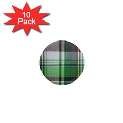 Plaid Fabric Texture Brown And Green 1  Mini Magnet (10 Pack)  by BangZart