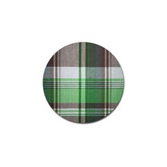 Plaid Fabric Texture Brown And Green Golf Ball Marker (10 Pack) by BangZart