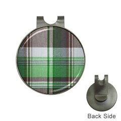 Plaid Fabric Texture Brown And Green Hat Clips With Golf Markers by BangZart