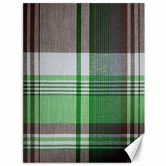 Plaid Fabric Texture Brown And Green Canvas 36  X 48
