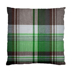 Plaid Fabric Texture Brown And Green Standard Cushion Case (two Sides) by BangZart