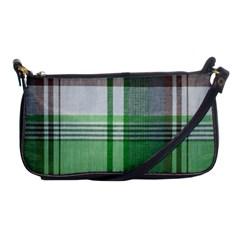 Plaid Fabric Texture Brown And Green Shoulder Clutch Bags by BangZart