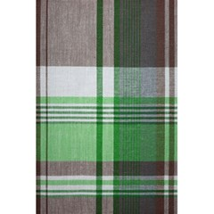 Plaid Fabric Texture Brown And Green 5 5  X 8 5  Notebooks by BangZart