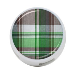 Plaid Fabric Texture Brown And Green 4 Port Usb Hub (one Side) by BangZart