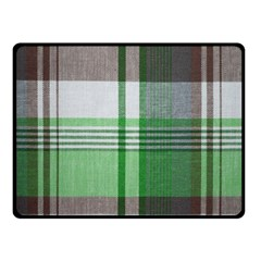 Plaid Fabric Texture Brown And Green Fleece Blanket (small) by BangZart