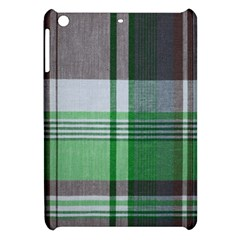 Plaid Fabric Texture Brown And Green Apple Ipad Mini Hardshell Case by BangZart