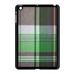 Plaid Fabric Texture Brown And Green Apple Ipad Mini Case (black) by BangZart