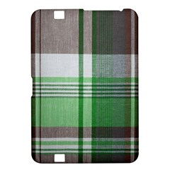 Plaid Fabric Texture Brown And Green Kindle Fire Hd 8 9  by BangZart