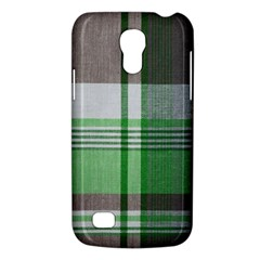 Plaid Fabric Texture Brown And Green Galaxy S4 Mini