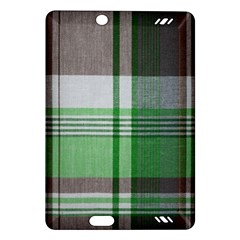 Plaid Fabric Texture Brown And Green Amazon Kindle Fire Hd (2013) Hardshell Case by BangZart
