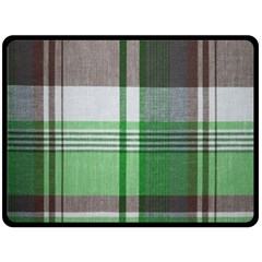 Plaid Fabric Texture Brown And Green Double Sided Fleece Blanket (large)  by BangZart
