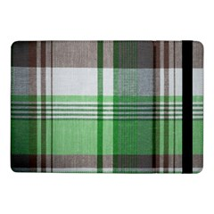 Plaid Fabric Texture Brown And Green Samsung Galaxy Tab Pro 10 1  Flip Case by BangZart