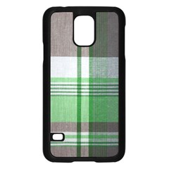 Plaid Fabric Texture Brown And Green Samsung Galaxy S5 Case (black) by BangZart