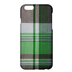 Plaid Fabric Texture Brown And Green Apple Iphone 6 Plus/6s Plus Hardshell Case by BangZart